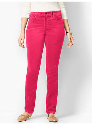 Talbots High-Rise Straight-Leg Velveteen Pants - Solid/Curvy