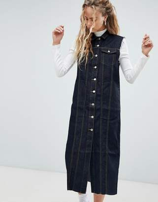 Dr. Denim button through denim dress