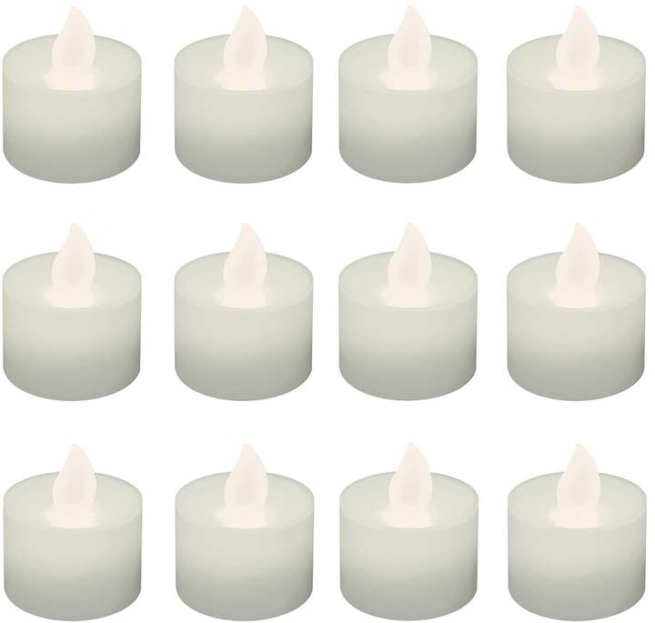 Lumabase LumaBase Warm White LED Tealight Candle 12-piece Set