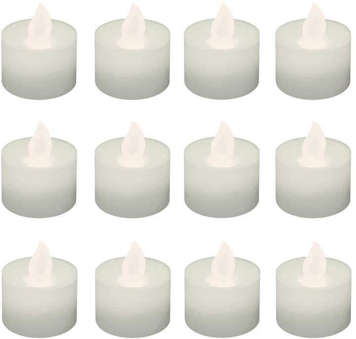 Lumabase LumaBase Warm White LED Tealight Candle 12-piece Set