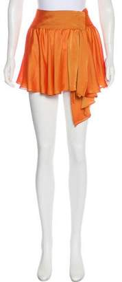 Just Cavalli Satin Mini Skirt