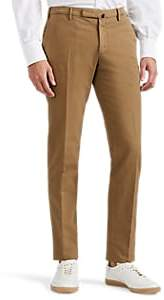 Incotex Men's Stretch-Cotton Slim Trousers - Beige, Tan