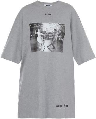 MSGM Cotton T-shirt Dress
