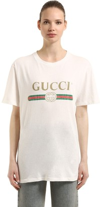99da067120e Gucci Vintage Logo Cotton Jersey T-Shirt