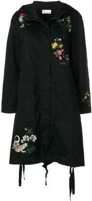 RED Valentino embroidered parka coat