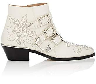 Chloé Women's Susanna Leather Ankle Boots - White