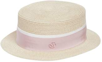 Maison Michel Auguste Straw Boater Hat