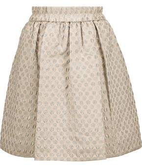 Marc By Marc Jacobs Romy Metallic Polka-Dot Jacquard Mini Skirt