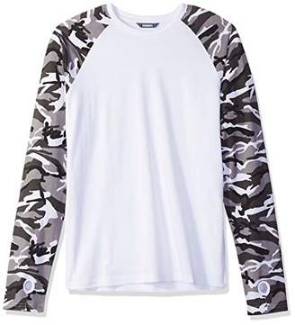 ROBUST Men's Full Sleeve Army Print Raglan Sleeves T-Shirt with Thumbhole (Size-)