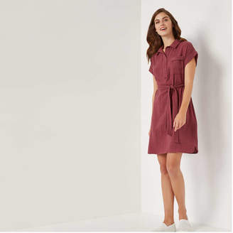 Joe Fresh Women's Pocket Dress, Dark Maroon (Size XS)