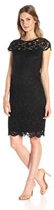Lark & Ro Women's Cap Sleeve Lace Dress