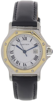 Cartier Santos Ronde Black gold and steel Watches