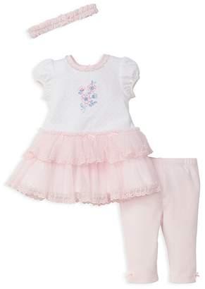 Little Me Girls' Tutu Shirt Dress, Leggings & Headband Set - Baby