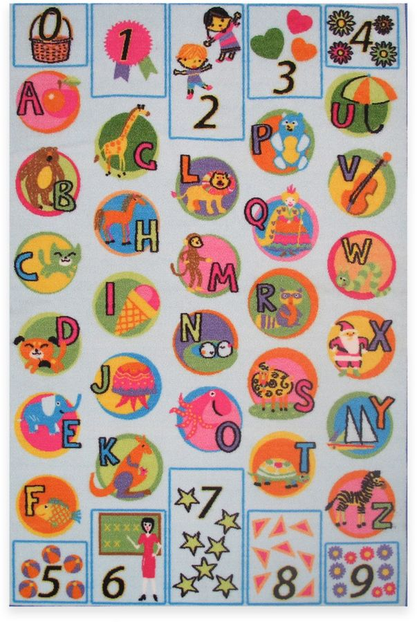 Fun RugsTM Fun Time Now I Know My ABCs 10-Foot x 6-Foot 8-Inch Rug