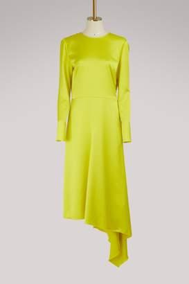 MSGM Asymmetrical satin dress