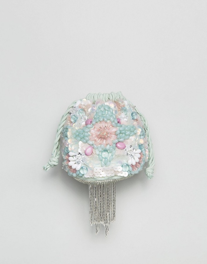 AsosASOS Embellished Pastel Pouch Bag