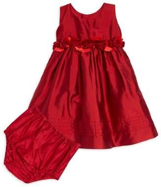 Isabel Garreton Bby Girl's Silk A-Line Dress & Blooers Set