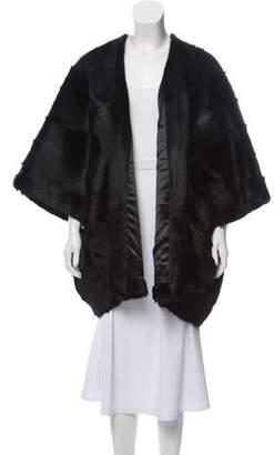 Saint Laurent Fur Open Front Jacket