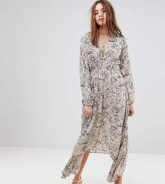 Lily & Lionel Exclusive Plunge Front Maxi Dress