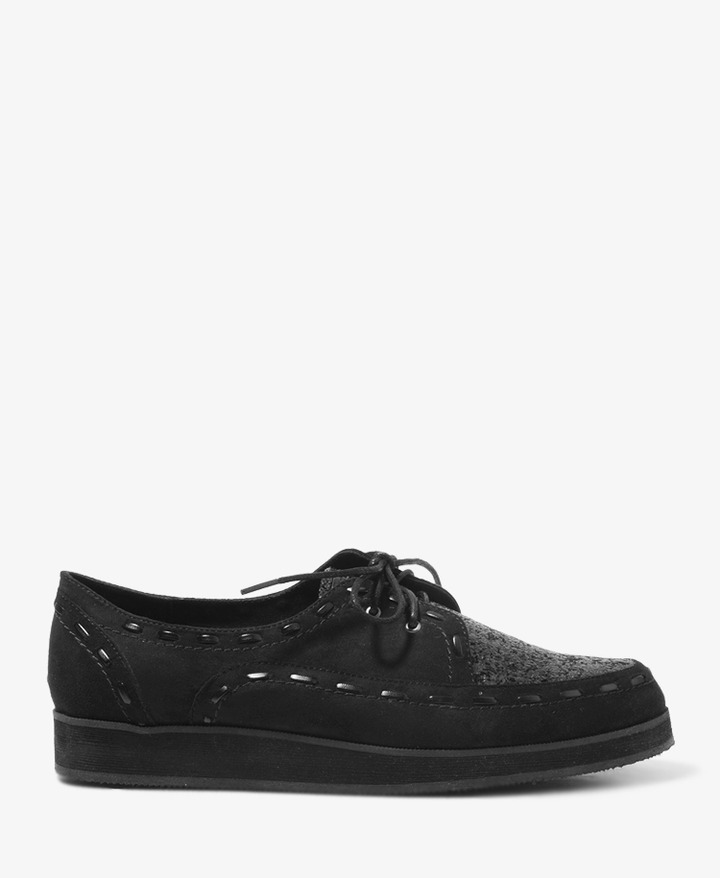 Forever 21 Glittered Faux Suede Oxford Creepers