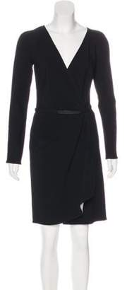 Kaufman Franco Kaufmanfranco Belted Wrap Dress w/ Tags Black Kaufmanfranco Belted Wrap Dress w/ Tags
