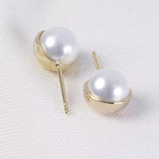 f913cedfe Lisa Angel White Pearl Ball Stud Earrings