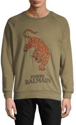 Pierre Balmain Embroidered Logo Cotton Sweatshirt