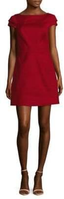 Halston Solid Boatneck Dress