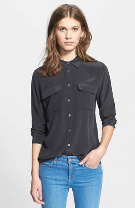 b95ba85e2ba0bf Equipment Slim Signature Silk Shirt - ShopStyle
