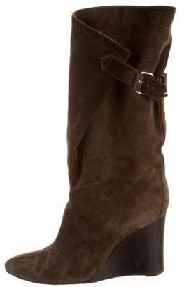 Balenciaga Mid-Calf Wedge Boots