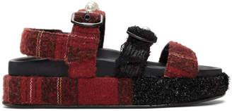 Simone Rocha Red Tartan Sandals