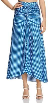 Paper London Islamorada Silk Ruched Maxi Skirt