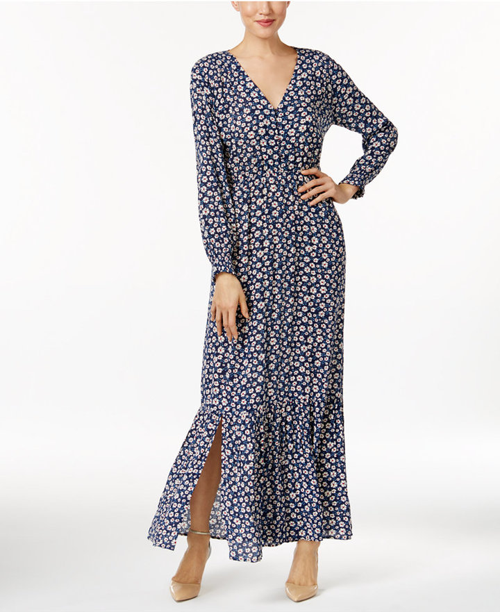 ECI Peasant Maxi Dress