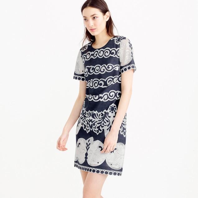 J.CrewShort-sleeve shift dress in ornate lace