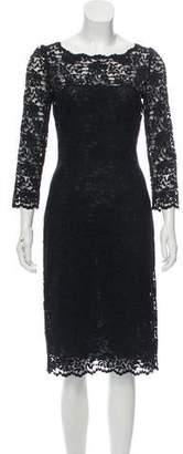 Dolce & Gabbana Lace Long Sleeve Midi Dress