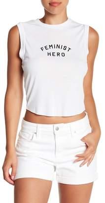 Wildfox Couture Fem Hero Keaton Graphic Tank