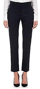 Barneys New York Women's Stretch-Wool Crop Trousers - Midnight Navy