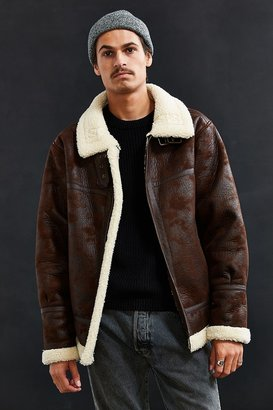 Urban Outfitters UO Faux Shearling B-3 Bomber Jacket $169 thestylecure.com