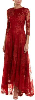 Monique Lhuillier Silk-Lined Gown