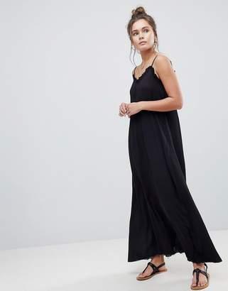 Asos DESIGN Scoop Back Maxi Dress in Crinkle