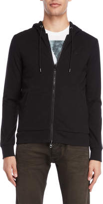 Armani Jeans Black Reversible Hooded Jacket