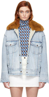 Levi's Levis Blue Denim Oversized Trucker Jacket