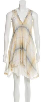 Elizabeth and James Plaid Mini Dress multicolor Plaid Mini Dress