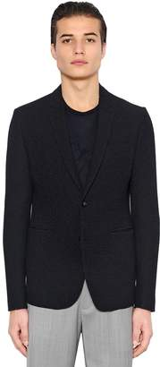 Emporio Armani Stretch Woven Effect Jersey Jacket
