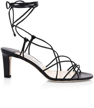 Jimmy Choo Tao Lace-Up Leather Sandals