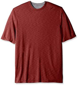 Van Heusen Men's Big and Tall Big and Tall Two Tone Short Sleeve Crew Neck Doubler Tee