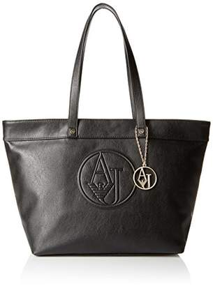 Armani Jeans Matte Eco Leather Tote