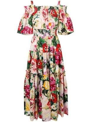 Dolce & Gabbana Papaveri Floral Midi Dress
