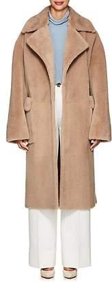 BEIGE BLANCHA Women's Betulla Shearling & Mink Fur Belted Coat - Beige, Tan