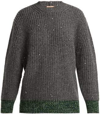 No.21 NO. 21 Sequin-embellished wool-blend sweater